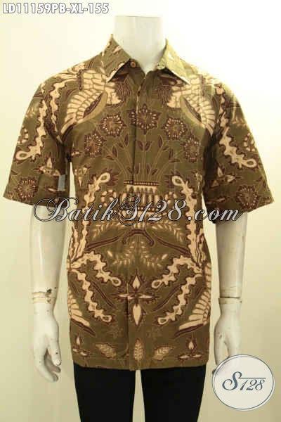 Busana Batik Modern Terbaru, Pakaian Batik Modis Jawa Tengah Lengan Pendek Nan Istimewa Yang Bikin Penampilan Tampan Mempesona