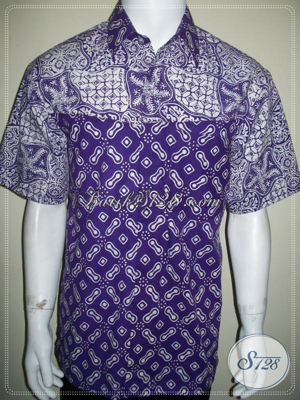 Kemeja Batik 2 Motif Lengan Pendek, Bagus Banget, Untuk Anak Muda Kuliah