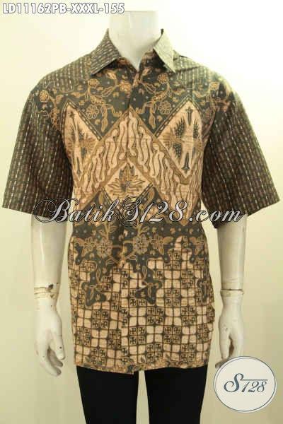 Kemeja Batik Pria Gemuk Terkini, Hadir Dengan Bahan Katun Halus Model Lengan Pendek Motif Kekinian Proses Printing, Cocok Untuk Seragam Kantor Dan Baju Acara Resmi