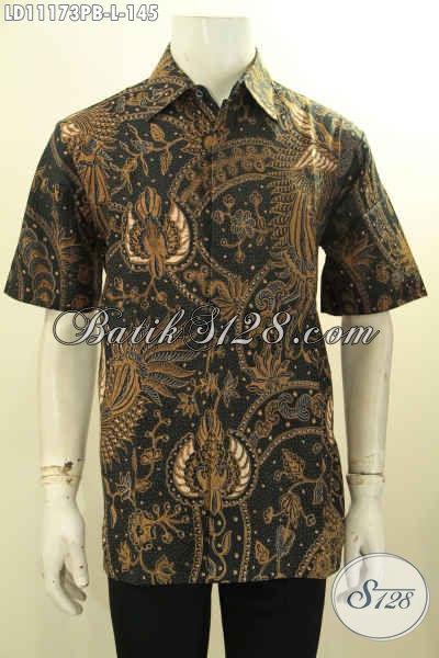Jual Baju Batik Solo Nan Istimewa, Pakaian Batik Halus Khas Jawa Tengah Lengan Pendek Motif ELegan Proses Printing Cabut Hanya 100 Ribuan Bisa Tampil Mempesona