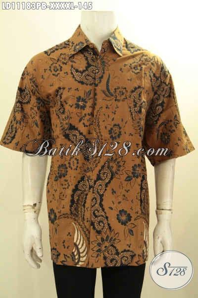 Baju Batik Lengan Pendek Pria Gemuk Sekali, Busana Batik Solo Jawa Tengah Nan Istimewa Proses Printing Cabut Menunjang Penampilan Lebih Gagah Dan Keren