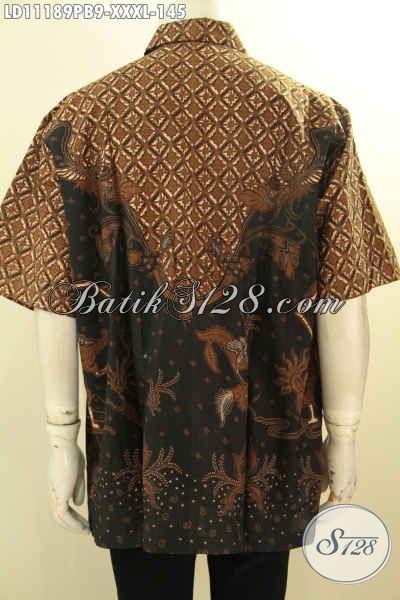 Baju Batik Kemeja Solo Lenga Pendek Spesial Untuk Lelaki Gemuk, Baju Batik Solo Jawa Tengah Nan Modis Motif Bagus Proses Printing Cabut,Pas Untuk Ngantor Dan Kerja