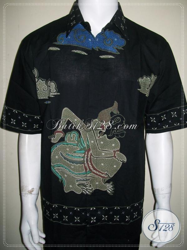 Batik Modern 2014 Pria Lengan Pendek, Batik Wayang Motif Semar [LD1118T-XL]