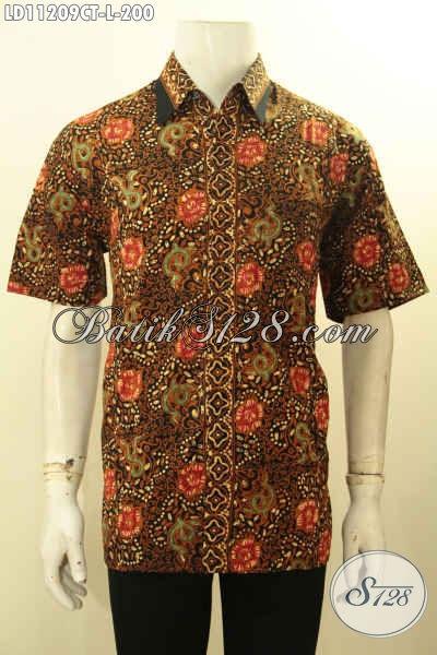 Batik Hem Untuk Pria Yang Bikin Penampilan Tampan Dan Gagah, Busana Batik Solo Modis Dan Berkelas Motif Bagus Cap Tulis, Bisa Buat Kondangan Maupun Ngantor