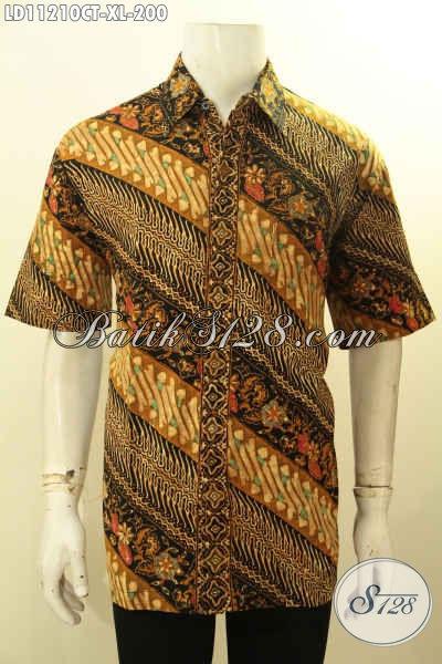 Batik Kemeja Solo Nan ELegan, Busana Batik Modern Motif Bagus Dengan Sentuhan Klasik Proses Cap Tulis, Tampil Gagah Dan Berkelas
