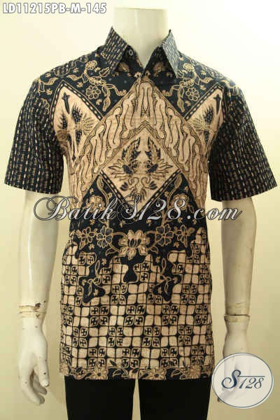 Baju Batik Atasan Pria Muda Ukuran M, Model Kemeja Batik Solo Istimewa Motif Berkelas Proses Printing Cabut Kwalitas Istimewa, Penampilan Lebih Mempesona