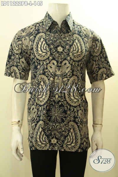 Baju Batik Pria Berkwalitas Istimewa Dengan Harga Biasa, Busana Batik Halus Lengan Pendek Motif Klasik Proses Printing, Pas Banget Buat Kondangan