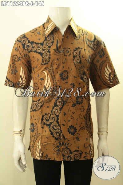 Pakaian Batik Pria Terbaru Motif Bagus Bahan Adem, Kemeja Batik Solo Jawa Tengah Kwalitas Istimewa Proses Printing Cabut Motif Terkini, Bisa Untuk Kerja Dan Kondangan