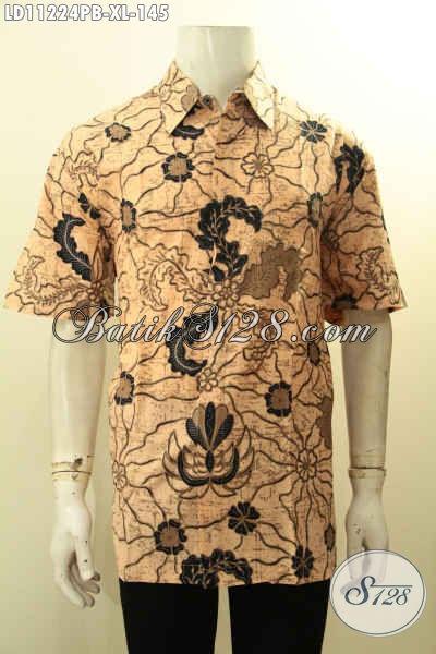 Pakaian Batik Halus Dan Keren, Hadir Dengan Motif Kekinian Warna Elegan Proses Printing Cabut Model Lengan Pendek, Pas Banget Buat Ngantor