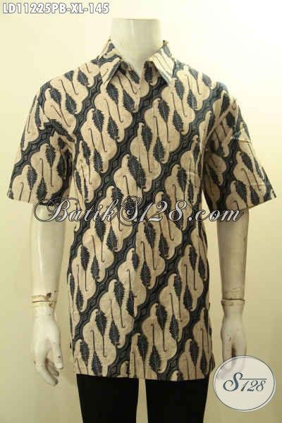 Model Baju Batik Kerja Kantoran Lengan Pendek Motif Elegan Kwalitas Bagus Proses Printing Cabut, Spesial Untuk Lelaki Dewasa Hanya 145K