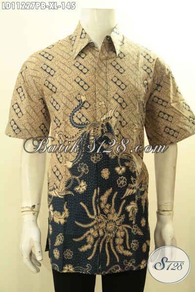 Model Baju Batik Modern Tren Masa Kini, Kemeja Batik Solo Jawa Tengah Kekinian Kwalitas Bagus Model Lengan Pendek, Bisa Untuk Santai Atau Resmi