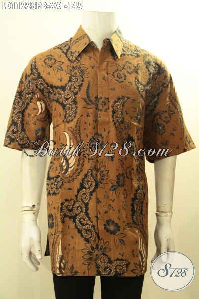 Baju Kemeja Batik Pria Gemuk, Busana Batik Big Size Lengan Pendek Motif Terbaru Model Terkini Kwalitas Istimewa, Menunjang Penampilan Lebih Berkelas