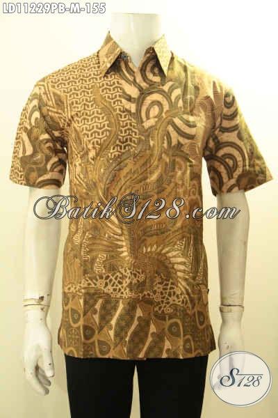 Batik Hem Pria Untuk Kerja Dan Acara Resmi, Busana Batik Kemeja Lengan Pendek Kwalitas Bagus Bahan Adem Motif Bagus Proses Printing Cabut Harga 155K