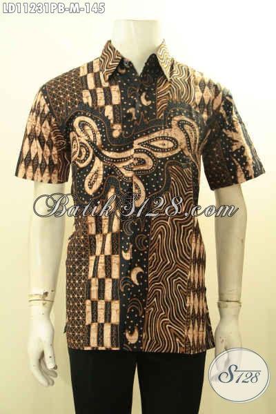 Toko Baju Batik Online Langganan Para Pegawai, Sedia Kemeja Lengan Pendek Modern Motif Unik Bahan Adem Proses Printing Cabut, Cocok Buat Ngantor Dan Hangout
