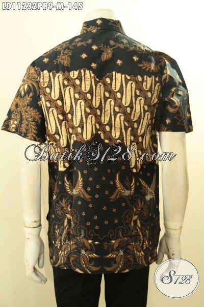 Baju Batik Modern Untuk Pria, Kemeja Batik Solo Lengan Pendek Motif Klasik Dengan Sentuhan Desain Yang Modern, Cocok Untuk Seragam Kantor Dan Kondangan Hanya 145K