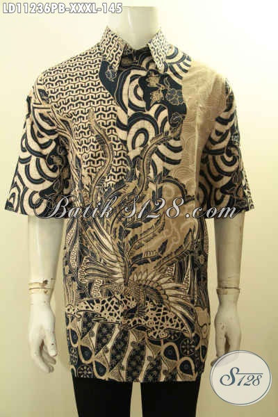 Batik Kemeja Big Size, Pakaian Batik Jumbo Exclusive Untuk Lelaki Gemuk Sekali Motif Baru Model Keren, Menunjang Penampilan Lebih Gagah