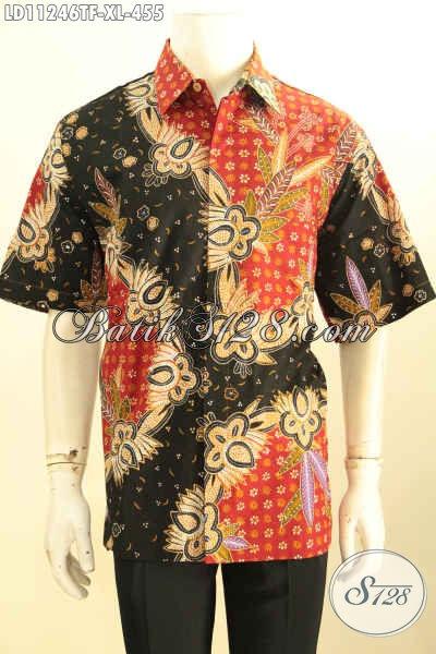 Batik Kemeja Solo Bagus Dan Berkelas, Hem Batik Elegan Model Lengan Pendek Bahan Adem Daleman Full Furing Motif Tulis Asli, Istimewa Untuk Acara Resmi