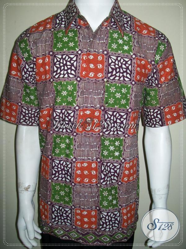 Online Butik Batik Solo Pria Lengan Pendek