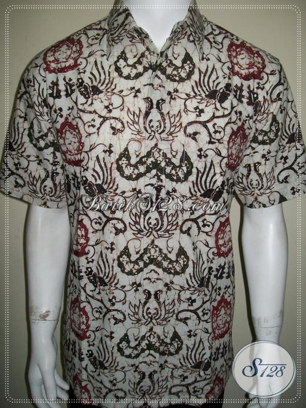 Kemeja Batik Klasik Modern, Ukuran S Elegan Dan Eksklusif, Keren Dan Gaul [LD1184CT-S]