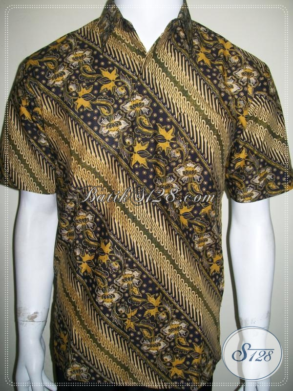Hem Batik Lengan Pendek Motif Parang Keren Mas Bro