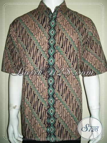 Pakaian Batik Pria Motif Klasik Elegan Lengan Pendek [LD1239CD-XL]