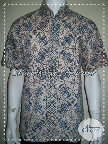 Baju Kemeja Batik Cap Warna Alam Pria Bagus