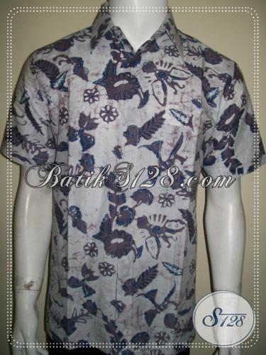 Toko Batik Anak Muda Online, Batik Pria Modern Lengan Pendek [LD1254BT-M]