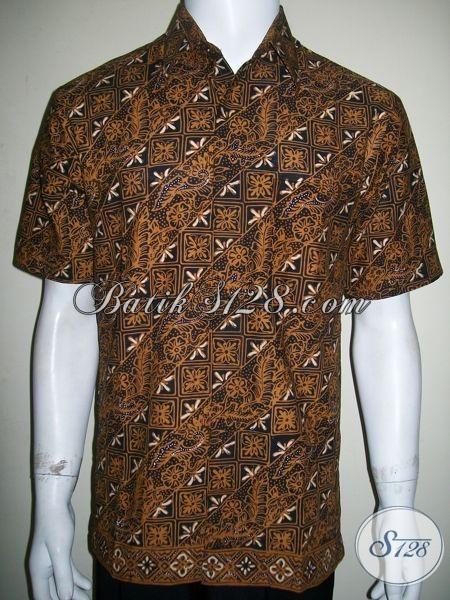 Kemeja Batik Pria Warna Gelap Untuk Kondangan, Kerja Kantor Dan Acara Resmi [LD1275C-M]