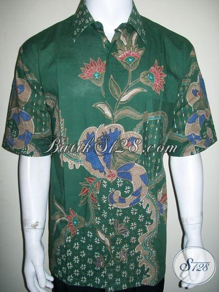 Baju Batik Tulis Warna Hijau Ukuran XL Bagus Harga Murah