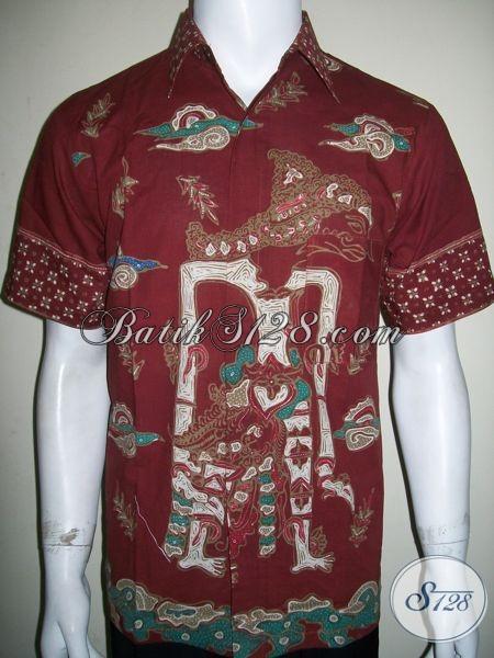 Batik Wayang Abimanyu Putra Arjuna, Batik Tulis Pria Motif Wayang [LD1315T-M]