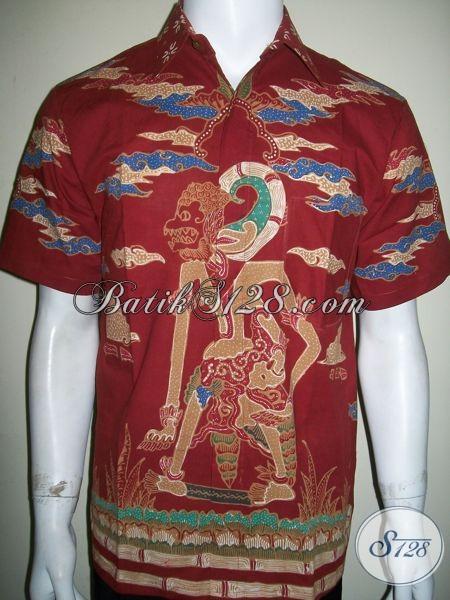 Kemeja Batik Motif Wayang, Batik Tulis Hanoman [LD1316T-M]