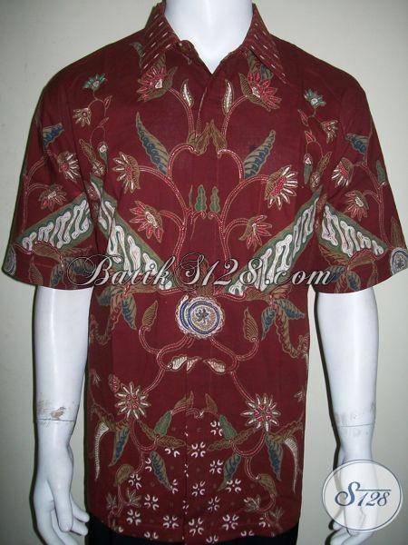 Busana Batik Tulis Laki-Laki, Baju Warna Merah