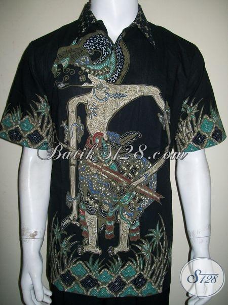 Batik Wayang Arjuna Kesatria Pandawa Bersenjata Panah, Batik Tulis Wayang Besar[LD1350T-L]