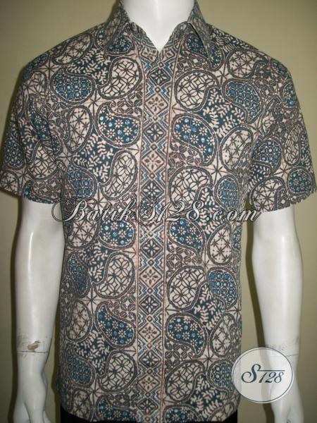 Pakaian Batik Pria Warna Alam Motif Modern [LD1394CA-M]