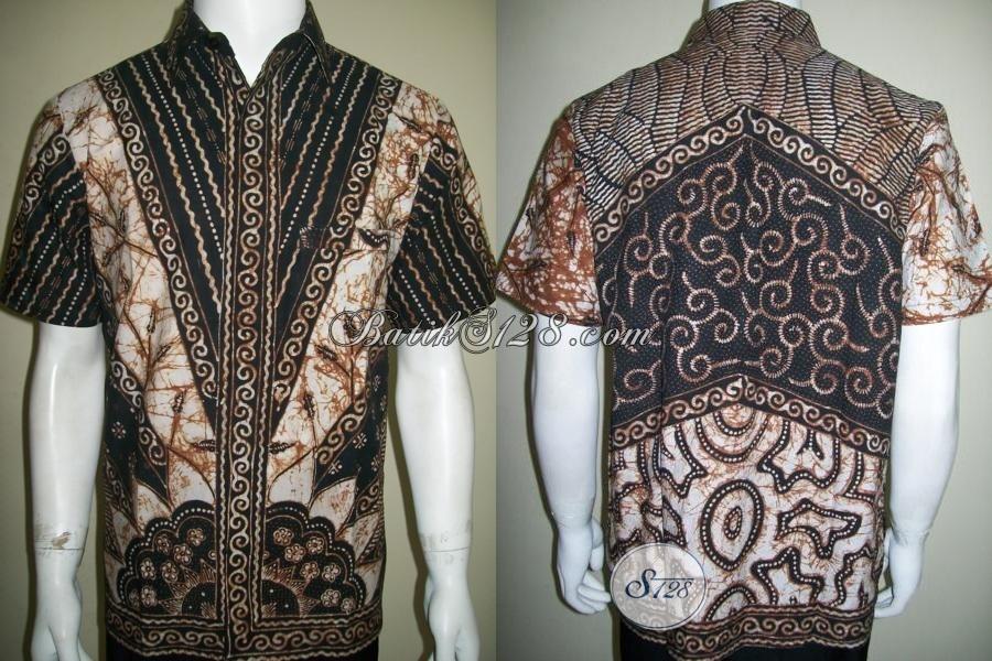 Busana Batik Tulis Premium Untuk Para Eksekutif Muda, Baju Batik Klasik Lengan Pendek Elegan, Size M