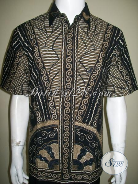 Baju BAtik Pria Lengan Pendek,Batik Tulis Pria Motif Terkini [LD1403T-L]