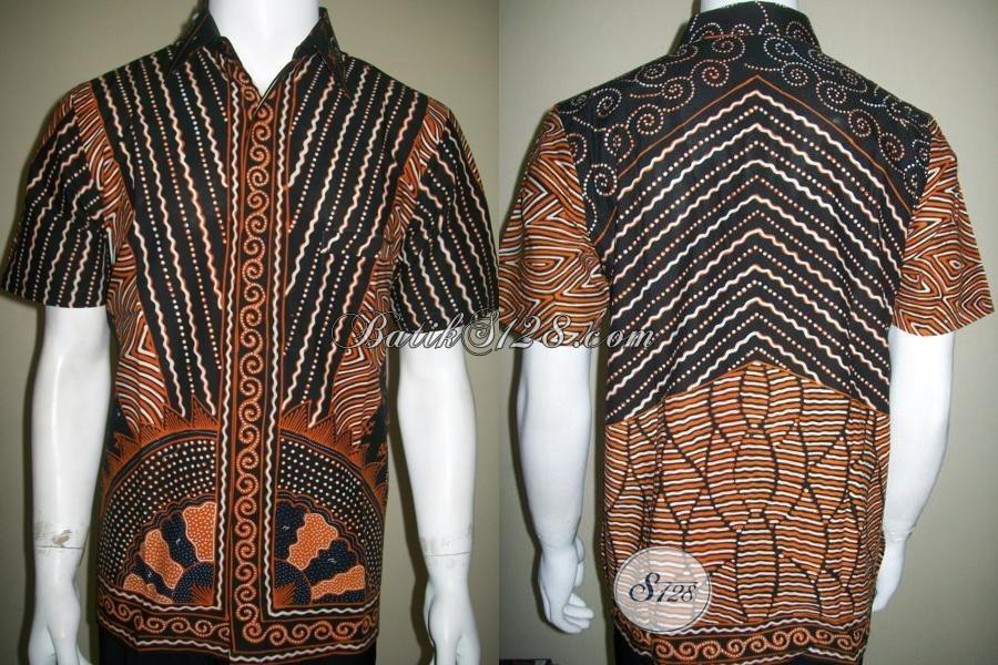 Pakaian Batik Tulis Pria Model Terkini,Bahan Batik Tulis Berkwalitas [LD1411T-M]