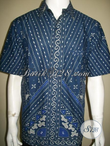 Tren Baju Batik Pria 2014, Busana Batik Tulis Istimewa Model Lengan Pendek Tampil Gagah Dan Elegan, Size L