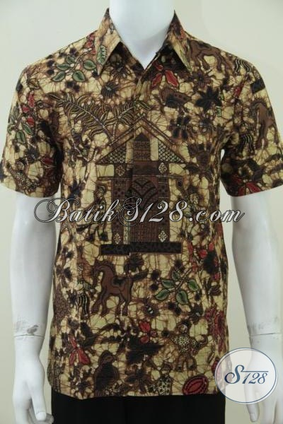 Kemeja Batik Motif Kumpeni Asli Batik Jawa,Kemeja Pria Batik Kumpeni [LD1475BT-M]