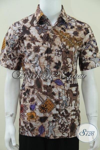 Hem Batik Pria Motif Kumpeni DAri Batik Solo,Pakaian BAtik Pria Executive Muda [LD1478BT-M]