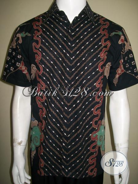 Model Baju Batik Tulis Pria Terbaru Lengan Pendek Motif