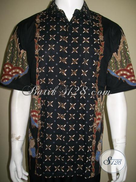Distro Batik Online Orang Solo, Sedia Kemeja Batik Tulis Untuk Pria, Baju Batik Lengan Pendek Halus Bagus Motif Terkini, Size L
