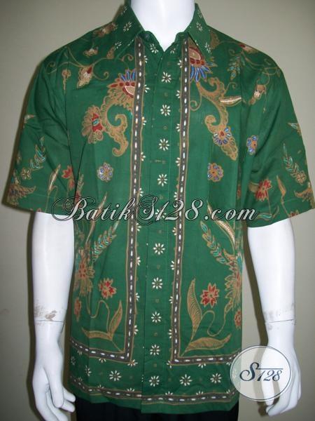 Kemeja Batik Pria Warna Hijau Elegan Dan Keren Batik Tulis Harga