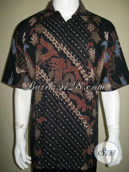 Baju Batik Pria Ukuran Jumbo Besar Big Size, Keren Mas Bro [LD1518T-XXL]