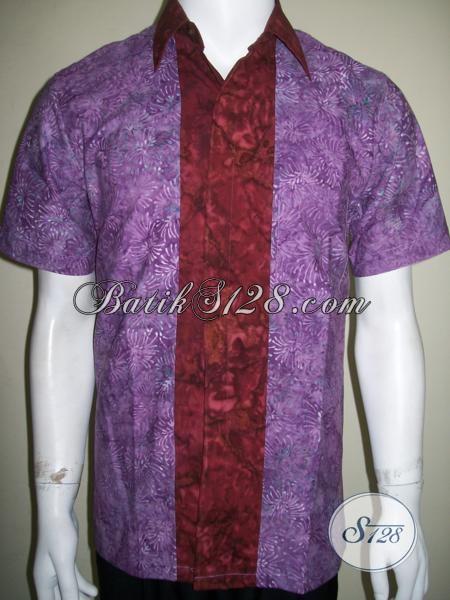 Jual Baju Batik Santai Pemuda Gaul Jaman Sekarang, Busana Batik Lengan Pendek Motif Unik Harga Murah, Size M – L