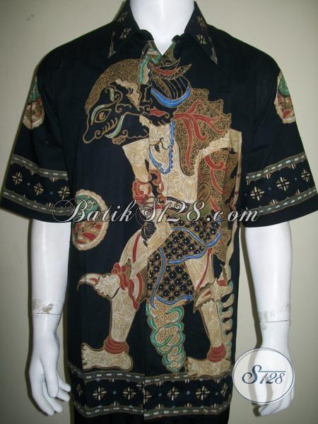 Baju Batik Batik Motif Wayang Size XXL Jumbo Besar Gede Gemuk, Tokoh Karakter Wayang Bima / Werkudara / Bimasena / Bratasena / Jagal Abilawa [LD1547T-XXL]