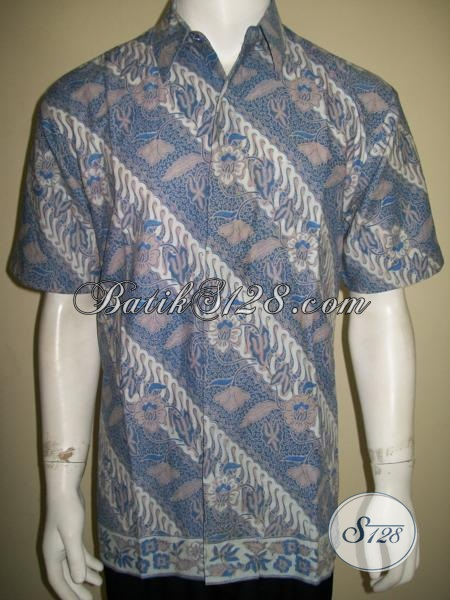 Jual Baju Batik Pria Murah Online Motif Parang, Asli Batik Solo Bagus Tidak Luntur [LD1552BT-M]