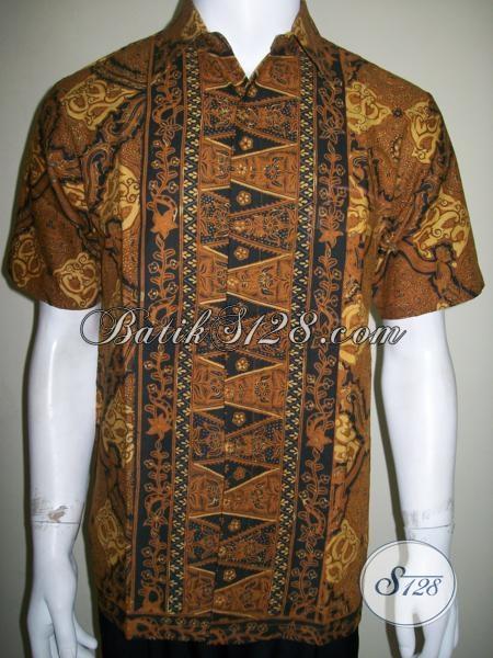Baju Batik Pria Motif Klasik Busana Batik Lengan Pendek Elegan