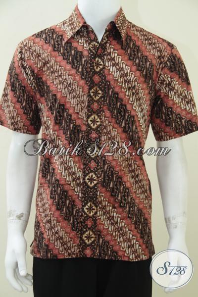 Baju Batik Pria Keren Motif Parang Klasik Ukuran M