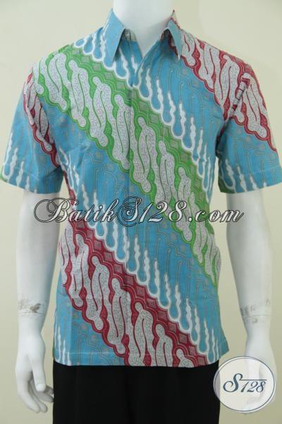 Batik Parang Elegan Untuk Pria Warna Cerah Terbaru, Model Batik Tahun 2014 [LD1581P-M]